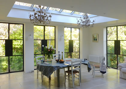 Conservatory with roof lantern in Family room in Oxford.jpg