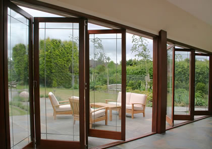 Set of folding sliding doors in Surrey