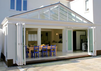 Folding Sliding Doors and Conservatory in Barnes, South West London