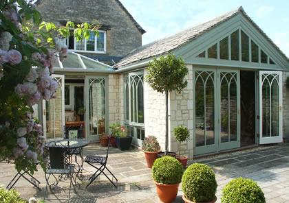 Garden Room and a Conservatory on Traditional Cotswold stone house