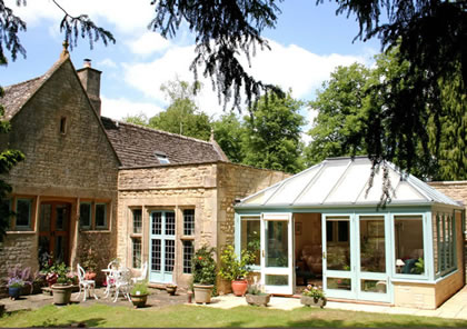 Conservatory on Listed Cotswold house near Cheltenham in Gloucestershire