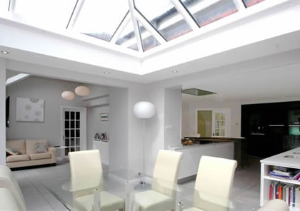 Orangery Kitchen Dining area in Sussex