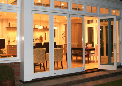 Kitchen extension  and folding sliding doors in Surrey
