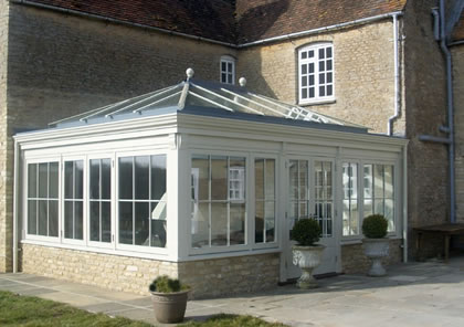 Traditional Orangery on listed house in Oxford