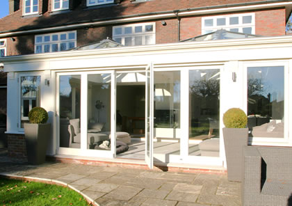 Double Orangery with 2 roof lanterns in Bucks