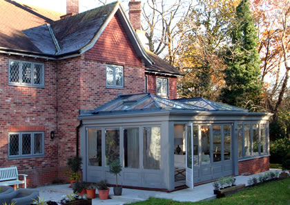 Orangery with two roof lanterns in Beaconsfield Bucks